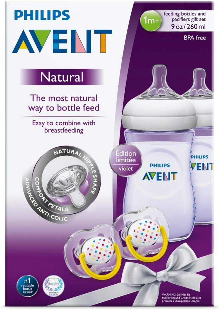 Philips Avent Natural Baby Bottle Purple Gift Set- NEW ...